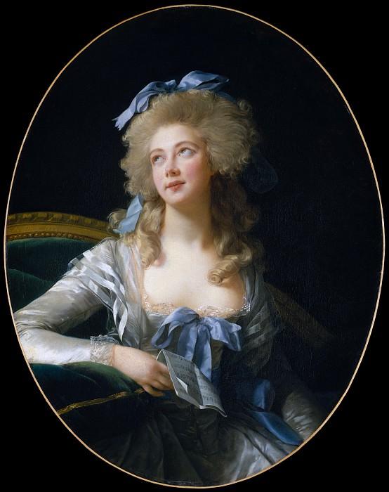Элизабет Виже Луиза Лебрен - Мадам Гранд (Ноэль-Катрин Верле, 1761-1835), позже г-жа де Талейран-Перигор, принцесса Беневена. Музей Метрополитен: часть 4