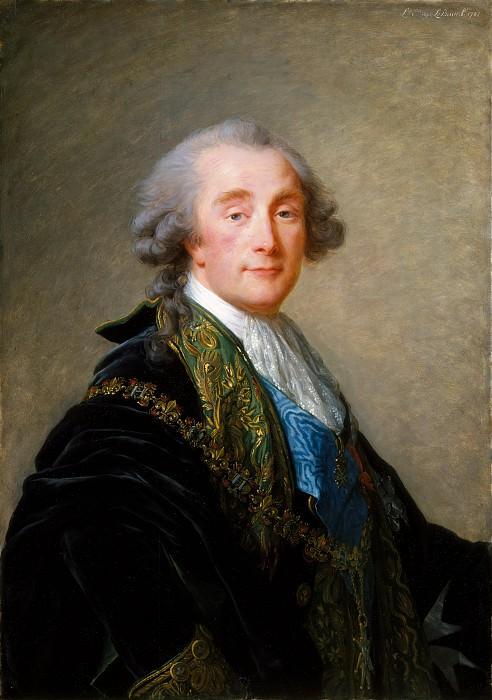 Élisabeth Louise Vigée Le Brun - Alexandre Charles Emmanuel de Crussol-Florensac (1747–1815). Metropolitan Museum: part 4