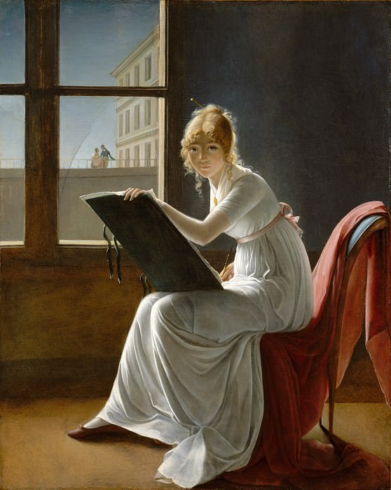 Marie-Denise Villers ) - Young Woman Drawing. Metropolitan Museum: part 4