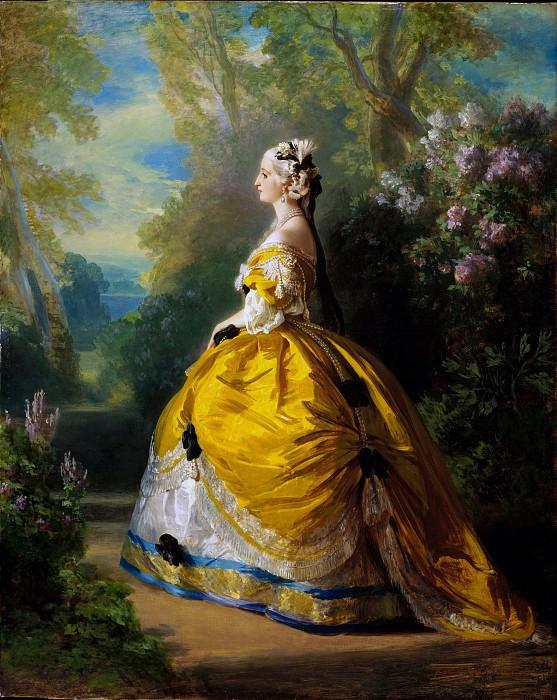 Franz Xaver Winterhalter - The Empress Eugénie (Eugénie de Montijo, 1826–1920, Condesa de Teba). Metropolitan Museum: part 4