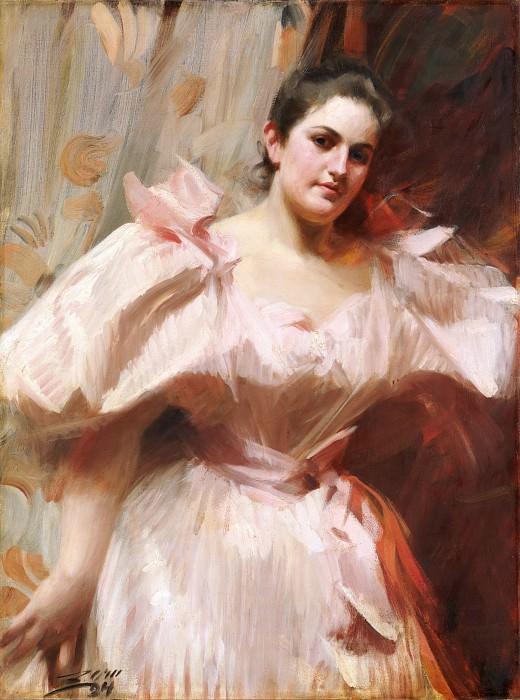 Anders Zorn - Frieda Schiff (1876–1958), Later Mrs. Felix M. Warburg. Metropolitan Museum: part 4