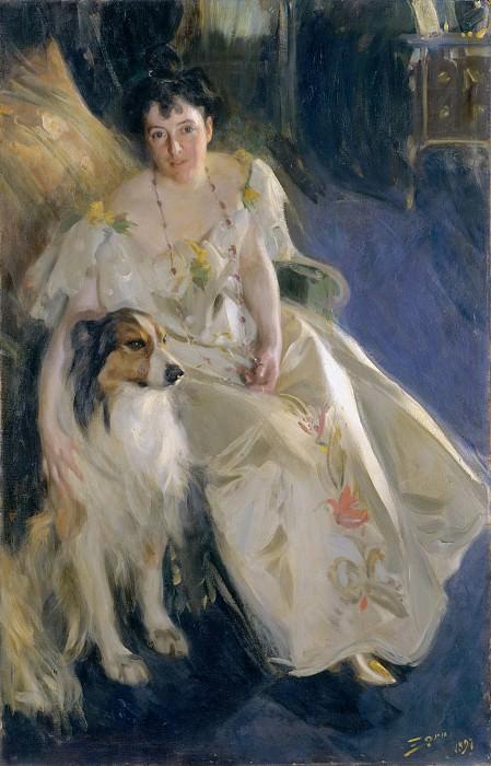 Андерс Цорн - Г-жа Вальтер Рэтбоун Бэкон (штат Вирджиния Парди, умерла в 1919). Музей Метрополитен: часть 4