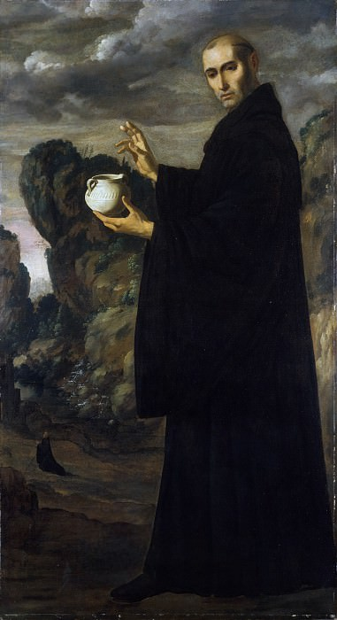Francisco de Zurbarán - Saint Benedict. Metropolitan Museum: part 4