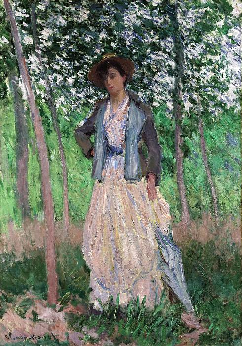 Claude Monet - The Stroller (Suzanne Hoschedé, later Mrs. Theodore Earl Butler, 1868–1899). Metropolitan Museum: part 4