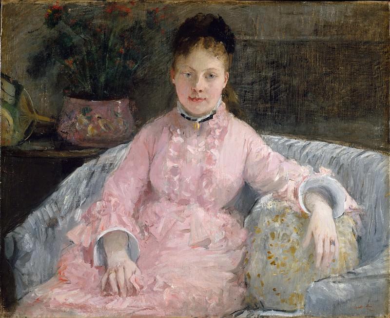 Berthe Morisot - The Pink Dress (Albertie-Marguerite Carré, later Madame Ferdinand-Henri Himmes, 1854–1935). Metropolitan Museum: part 4