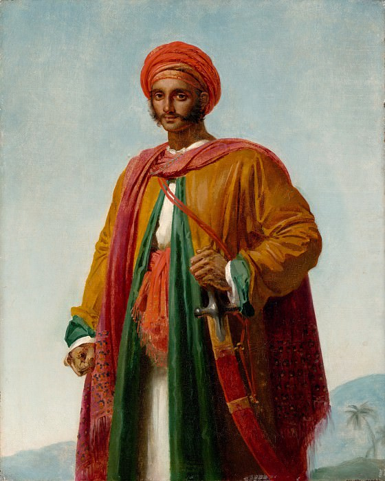 Anne-Louis Girodet-Trioson - Study for Portrait of an Indian. Metropolitan Museum: part 4