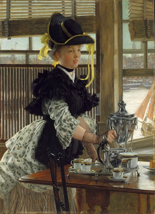 James Tissot - Tea. Metropolitan Museum: part 4
