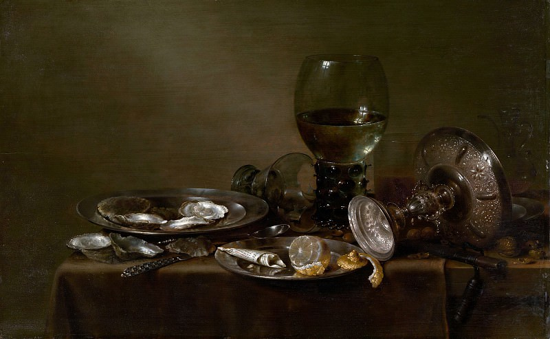 Willem Claesz Heda - Still Life with Oysters, a Silver Tazza, and Glassware. Metropolitan Museum: part 4