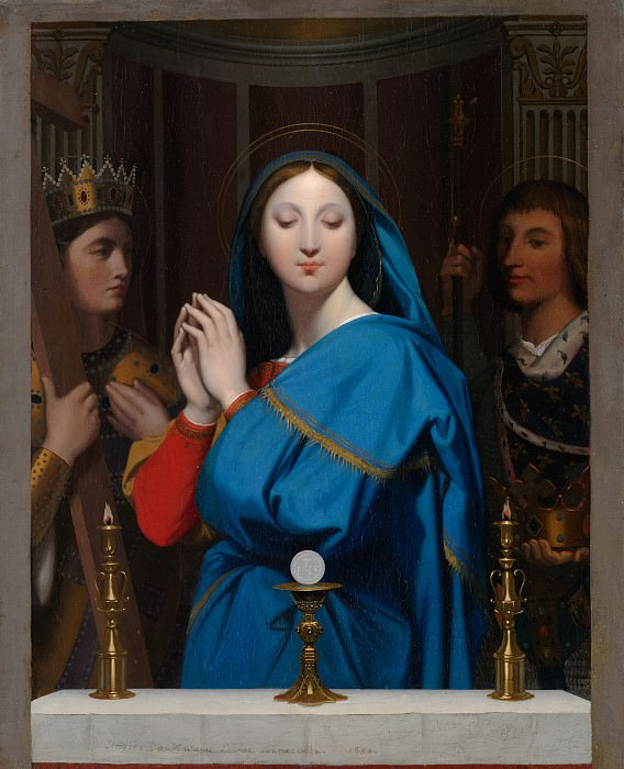 The Virgin Adoring the Host. Jean Auguste Dominique Ingres