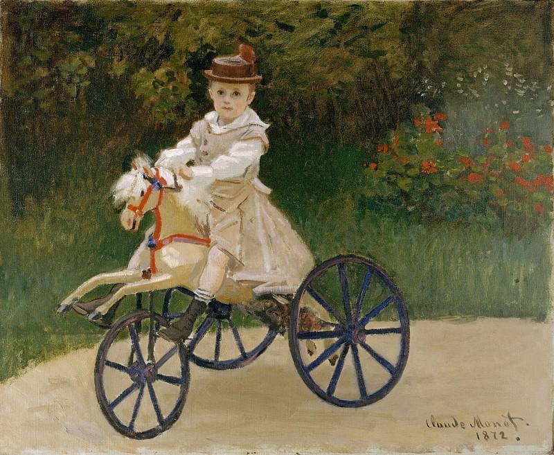 Claude Monet - Jean Monet (1867–1913) on His Hobby Horse. Metropolitan Museum: part 4