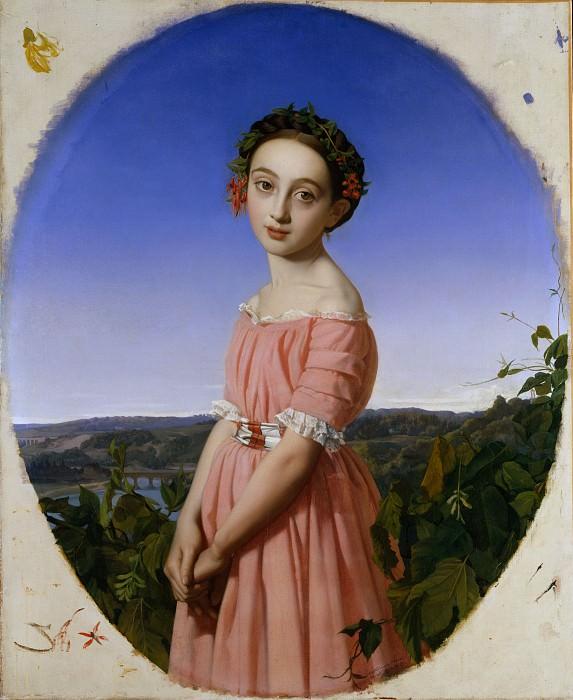Henri Lehmann - Faustine Léo (1832–1865). Metropolitan Museum: part 4