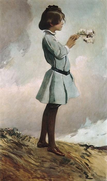John White Alexander - Geraldine Russell. Metropolitan Museum: part 4