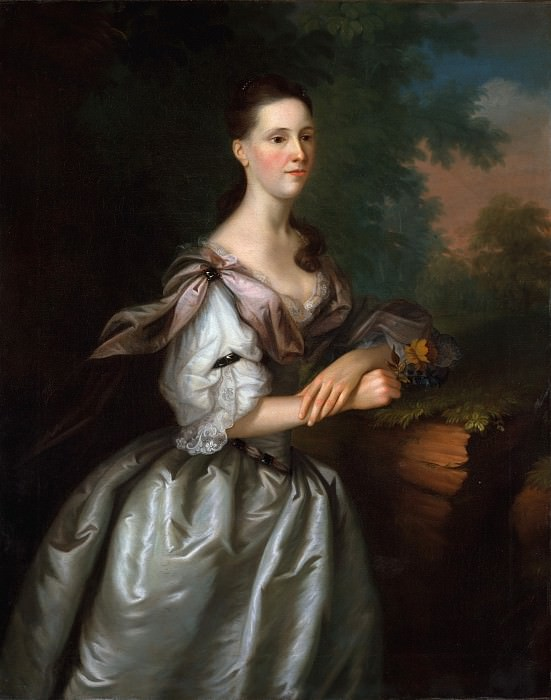 Joseph Blackburn - Mrs. Samuel Cutts. Metropolitan Museum: part 4