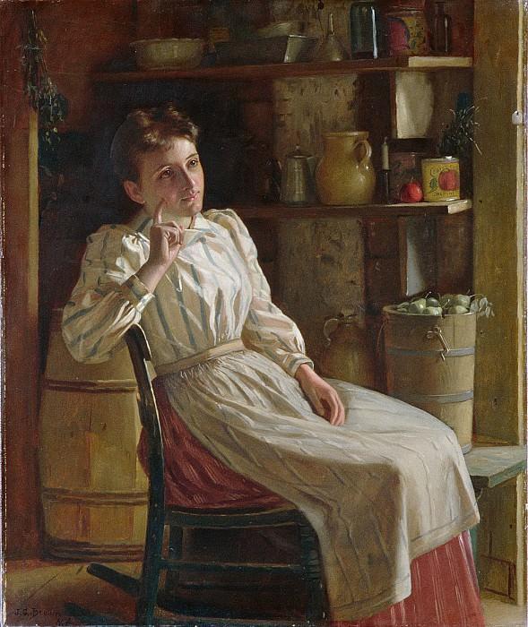 John George Brown , Durham 1831–1913 New York City) - Meditation. Metropolitan Museum: part 4