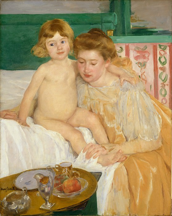 Mary Cassatt - Mother and Child (Baby Getting Up from His Nap). Metropolitan Museum: part 4