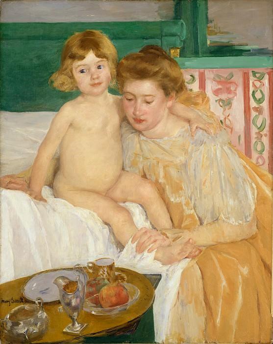 Мэри Кассат - Матери и дитя (ребёнок проснулся после короткого сна). Музей Метрополитен: часть 4