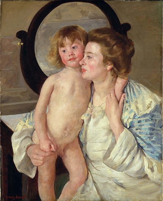 Mary Cassatt - Mother and Child (The Oval Mirror). Metropolitan Museum: part 4