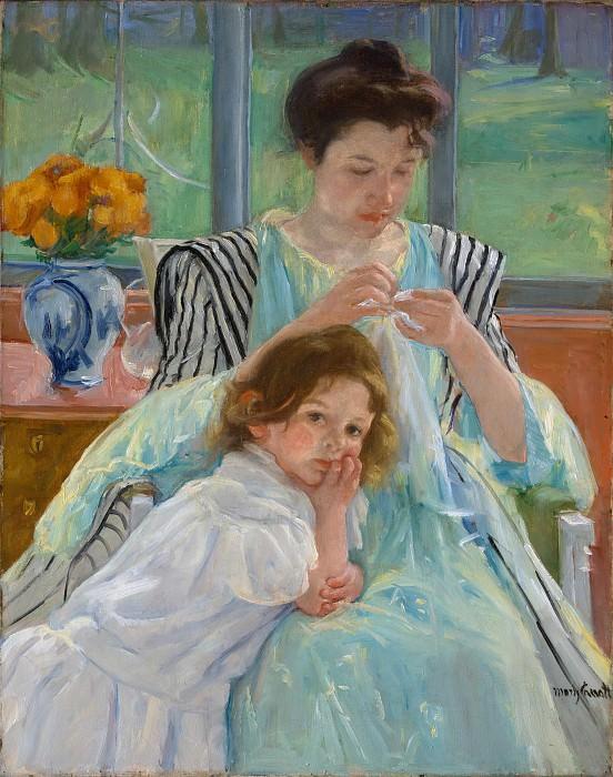 Mary Cassatt - Young Mother Sewing. Metropolitan Museum: part 4
