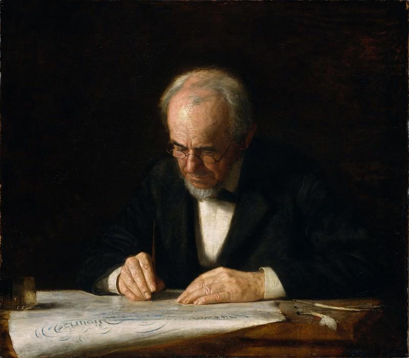 Thomas Eakins - The Writing Master. Metropolitan Museum: part 4