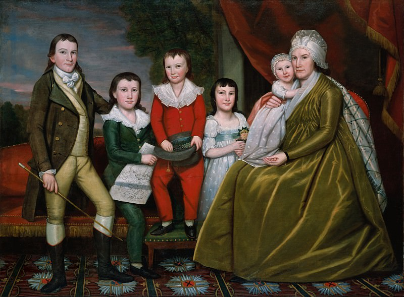 Ralph Earl - Mrs. Noah Smith and Her Children. Metropolitan Museum: part 4