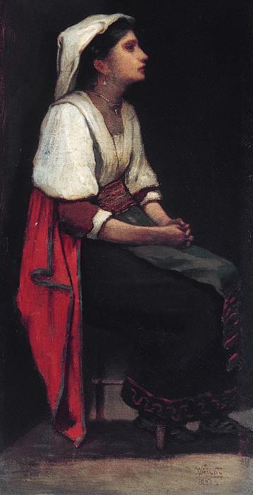 William Morris Hunt - Italian Girl. Metropolitan Museum: part 4
