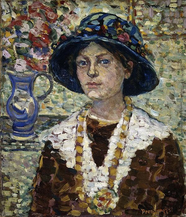 Maurice Brazil Prendergast - Portrait of a Girl with Flowers. Metropolitan Museum: part 4