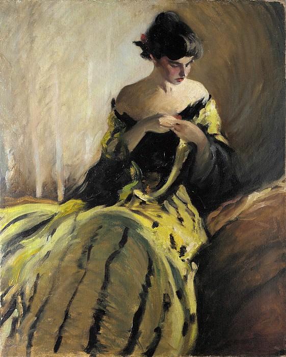 John White Alexander - Study in Black and Green (Oil Sketch). Metropolitan Museum: part 4