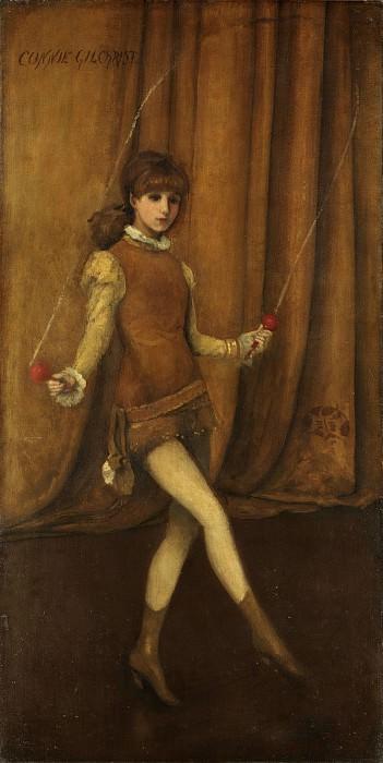 Джеймс Макнейл Уистлер - Гармония в желтом и золотом: Золотая девушка, Конни Гилкрист. Музей Метрополитен: часть 4