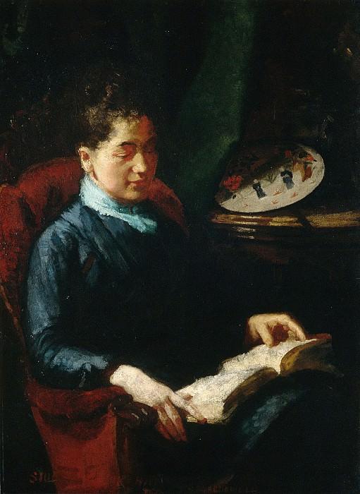 Susan Macdowell Eakins - Woman Reading. Metropolitan Museum: part 4