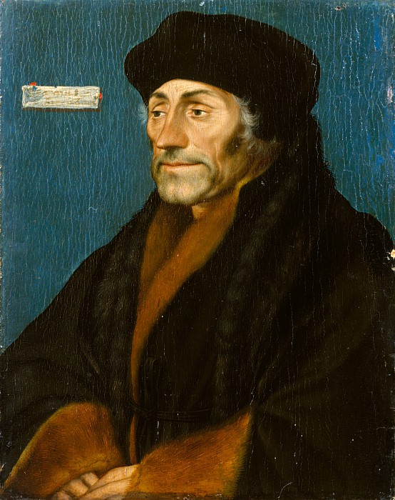 Hans Holbein the Younger - Erasmus of Rotterdam. Metropolitan Museum: part 4