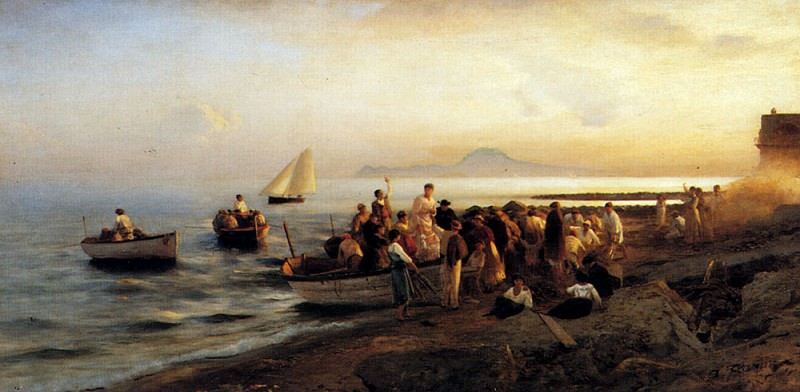 Flamm Albert Figures On A Shore. German artists
