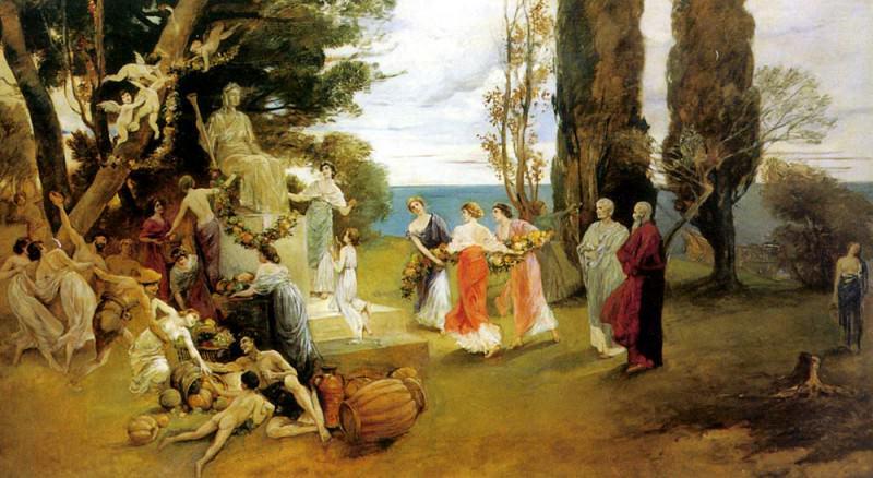 Kaulbach Friedrich August Von - In Arcadia. German artists