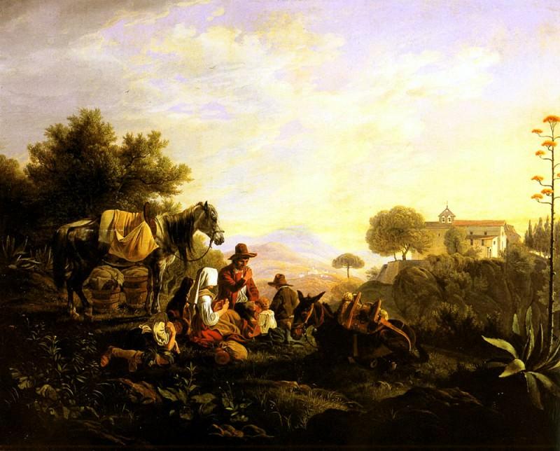 Hess Peter Heinrich Lambert von Picking The Grapes. German artists