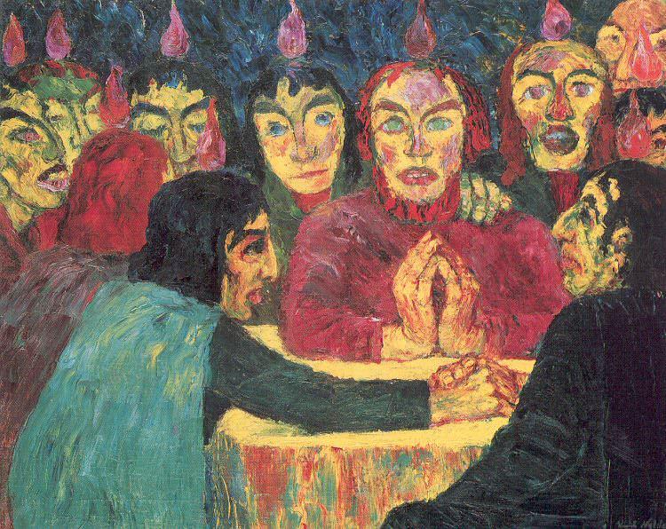 Нольде, Эмиль (немец, 1867-1956) - Троица. Немецкие художники