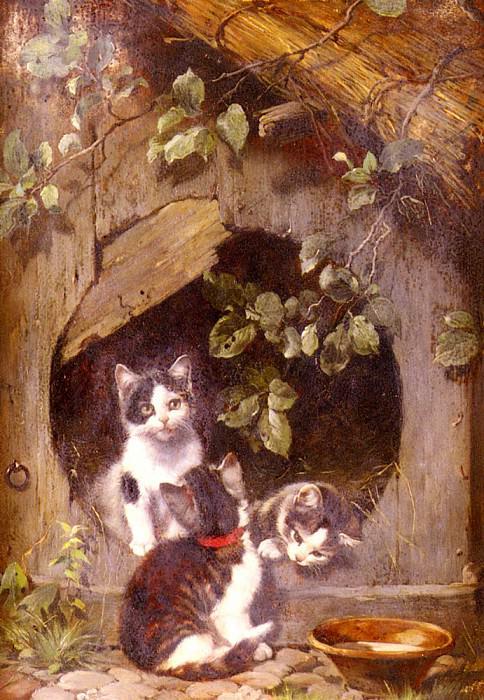 Adam Julius Playful Kittens. German artists