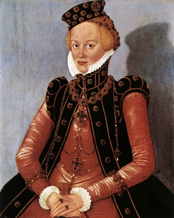 CRANACH Lucas the Younger Portrait Of A Woman. German artists