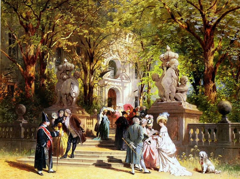 Hennings Johann Friedrich After Church. German artists