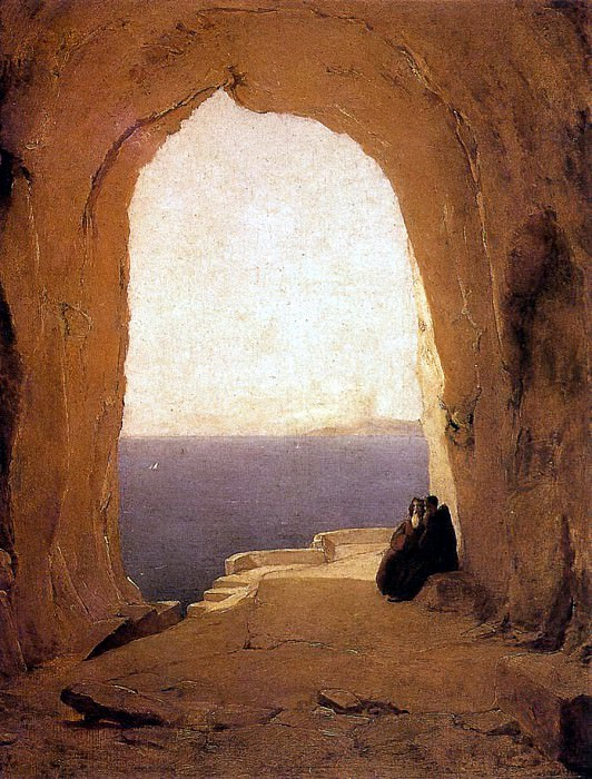 BLECHEN Karl Grotto In The Gulf Of Naples. German artists