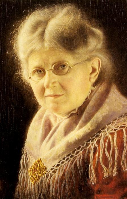 Heuster Carl Portrait Of An Elderly Swabian Woman. German artists