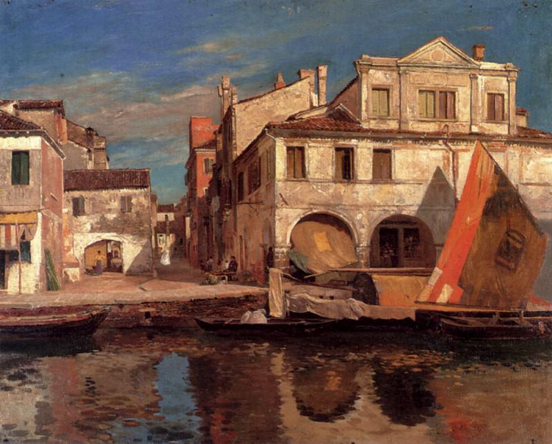Бауэрнфайнд, Густав - На канале в Кьодже. Немецкие художники