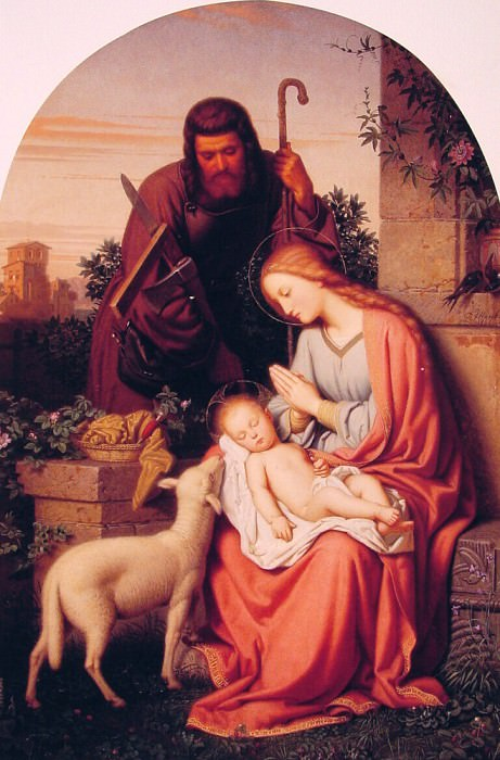 The Holy Family. German artists