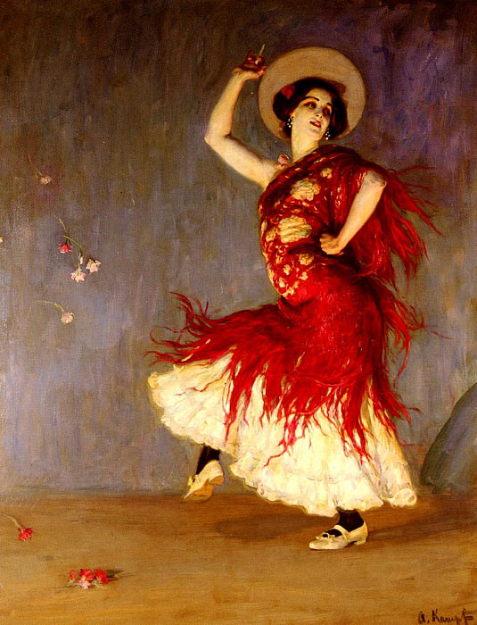Kampf Arthur A Flamenco Dancer. German artists