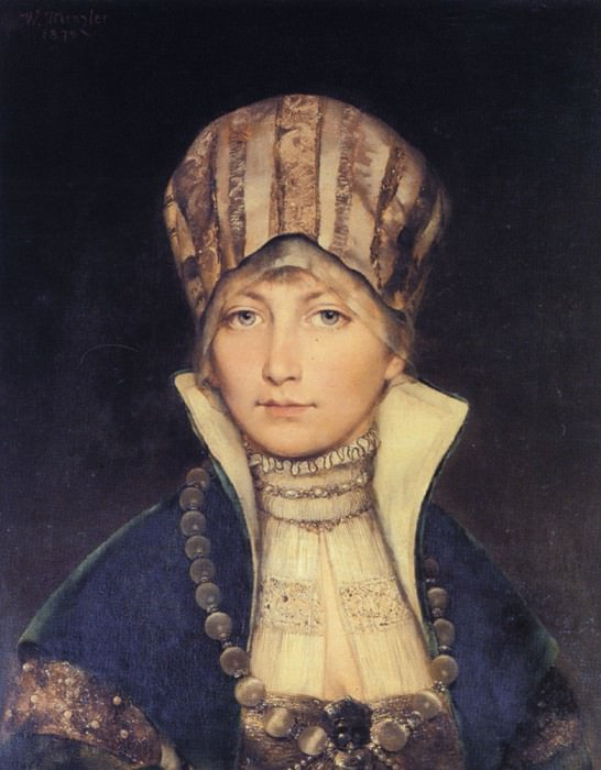 Portrait of a Woman in a Bonnet. German artists