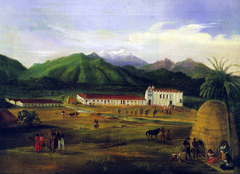 Deppe, Ferdinand (German, active in America, 1800s) San Gabriel Mission, 1832. German artists