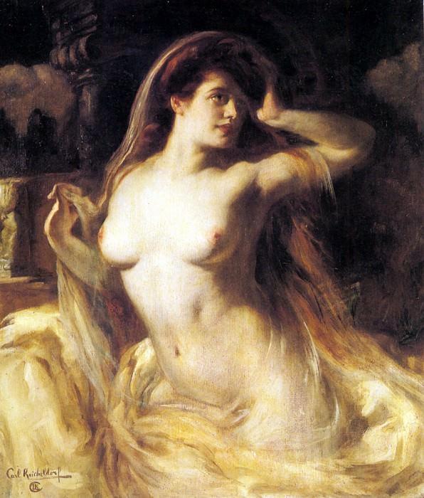 Kricheldorf Carl A Voluptuous Nude. German artists