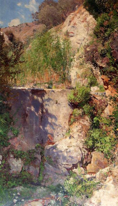 Bracht Eugen Felix Prosper A Sunlit Gorge Palestina. German artists