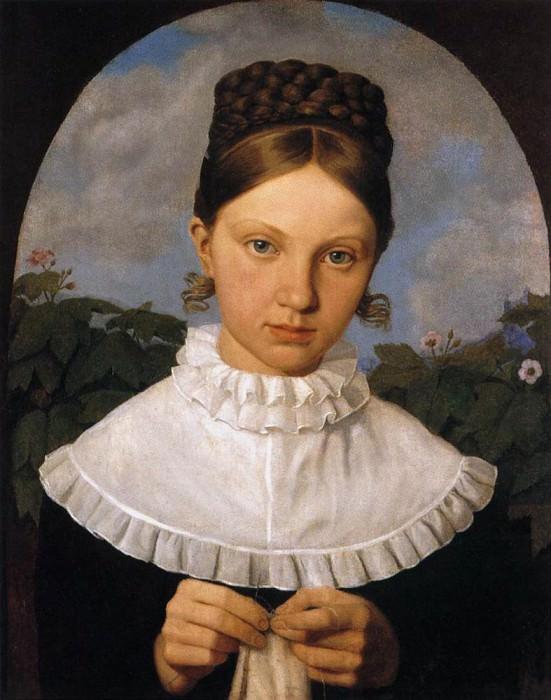 HESS Heinrich Maria von Portrait Of Fanny Gail. German artists