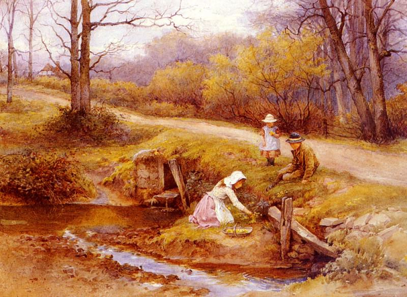 Wilson Charles Edward Gathering Primroses. German artists