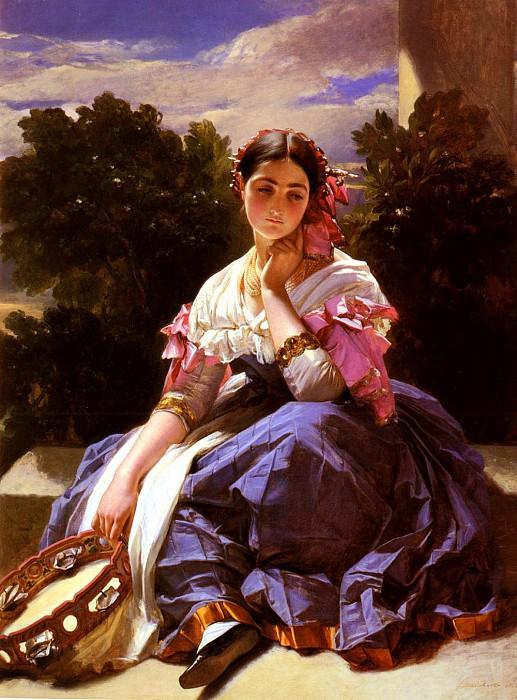 Winterhalter Franz Xaver Jeune Fille De L-Ariccia. Немецкие художники