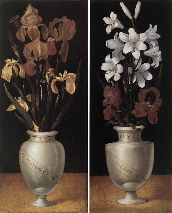 RING Ludger tom the Younger Vases Of Flowers. Немецкие художники